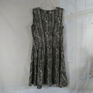 Calvin Klein fit & flair dress midi NWOT